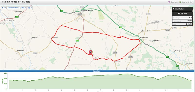 Pub cycle route - Easy
