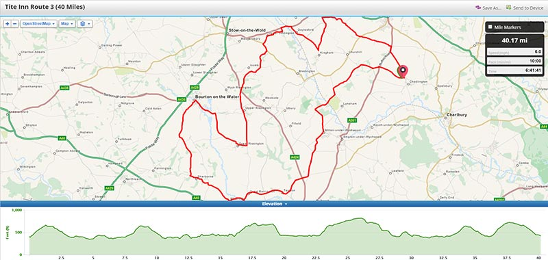 Pub cycle route, challenging!